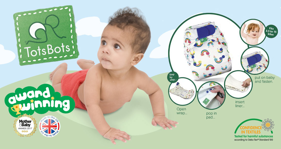 Introducing Tots Bots - Award Winning Reusable Nappies‎